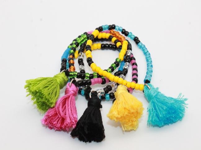 DIY Tassel Bracelets