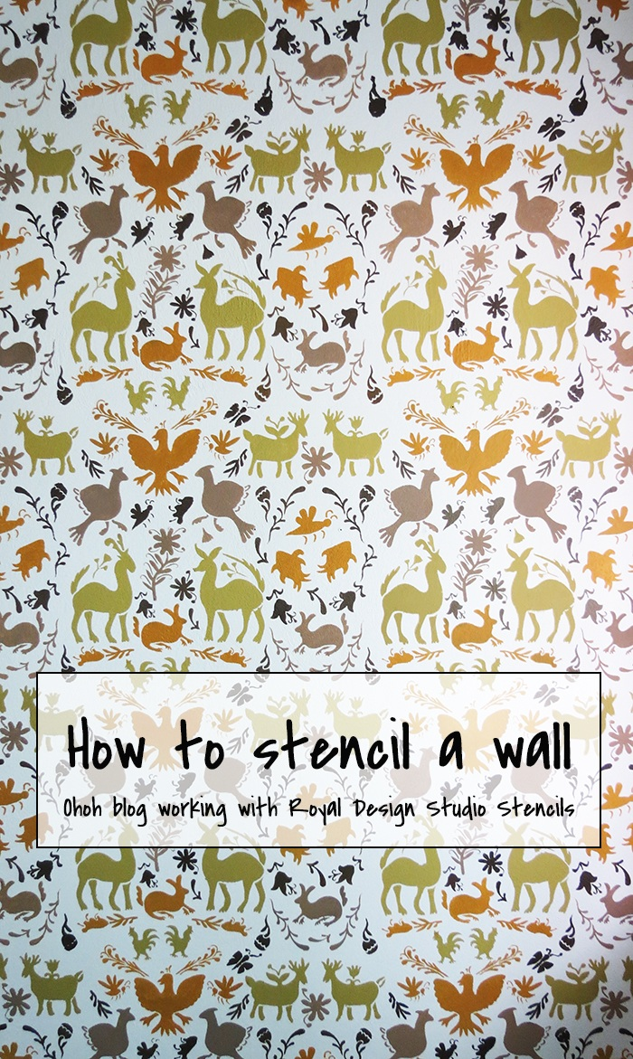 Diy and crafts How to stencil a wall with Royal Design Studio