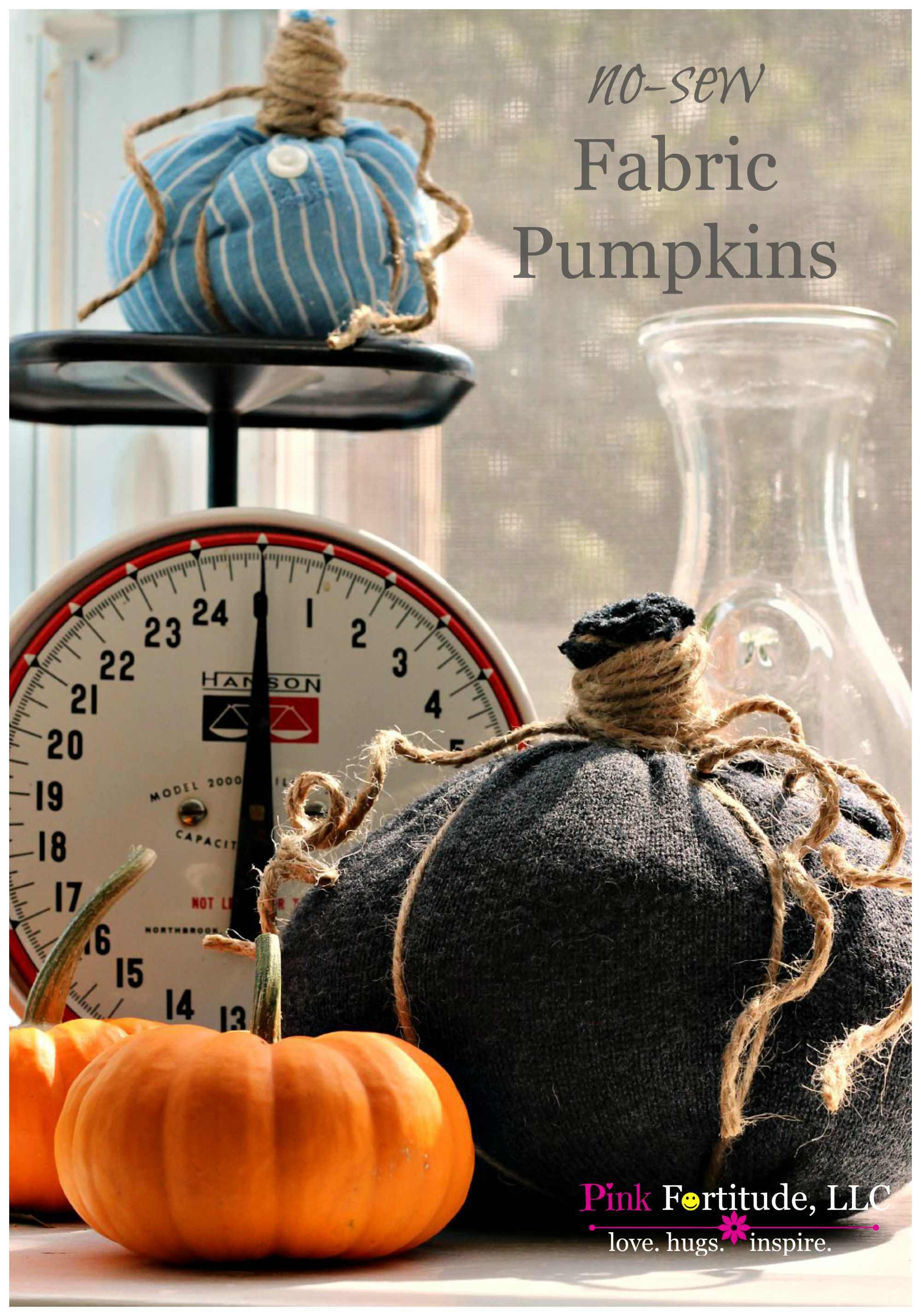 No Sew Fabric Pumpkins Upcycle Your Old Shirts and Sweaters