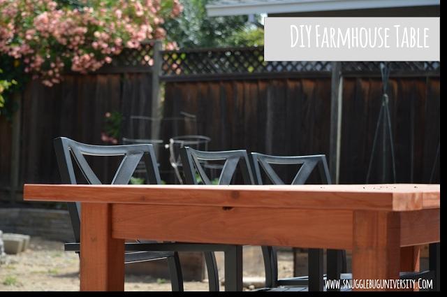 Farmhouse Patio Table and Bench