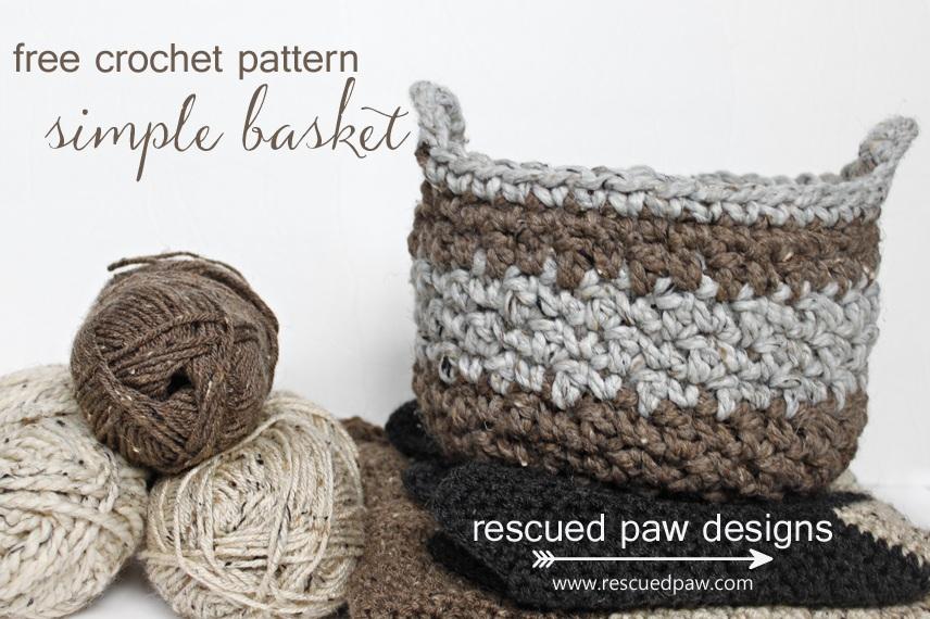 Simple Crochet Storage Basket Pattern - CraftSmile