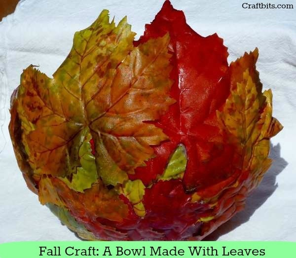Easy Fall Craft Idea Leaf Bowl ¡ª craftbits.com