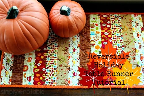 Reversible Holiday Table Runner Tutorial