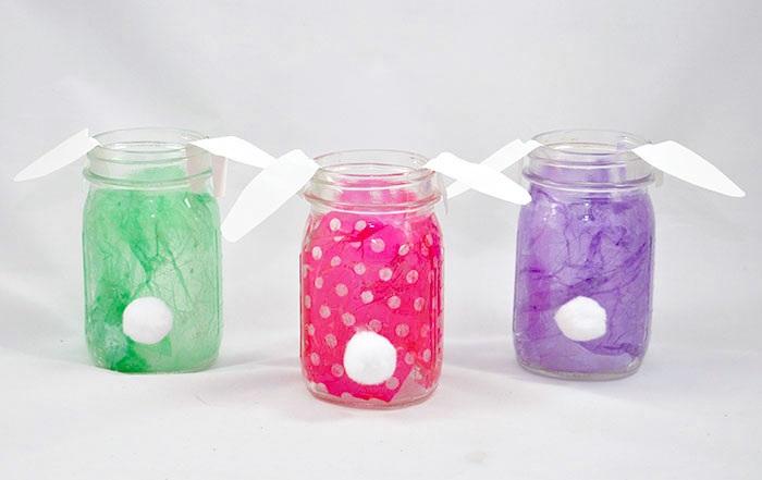 Easter bunny DIY mason jars