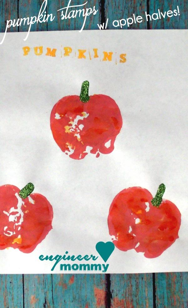 DIY Pumpkin Stamps {a kid's craft}