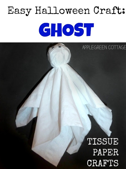 Tissue Paper Ghost Easy Halloween Crafts
