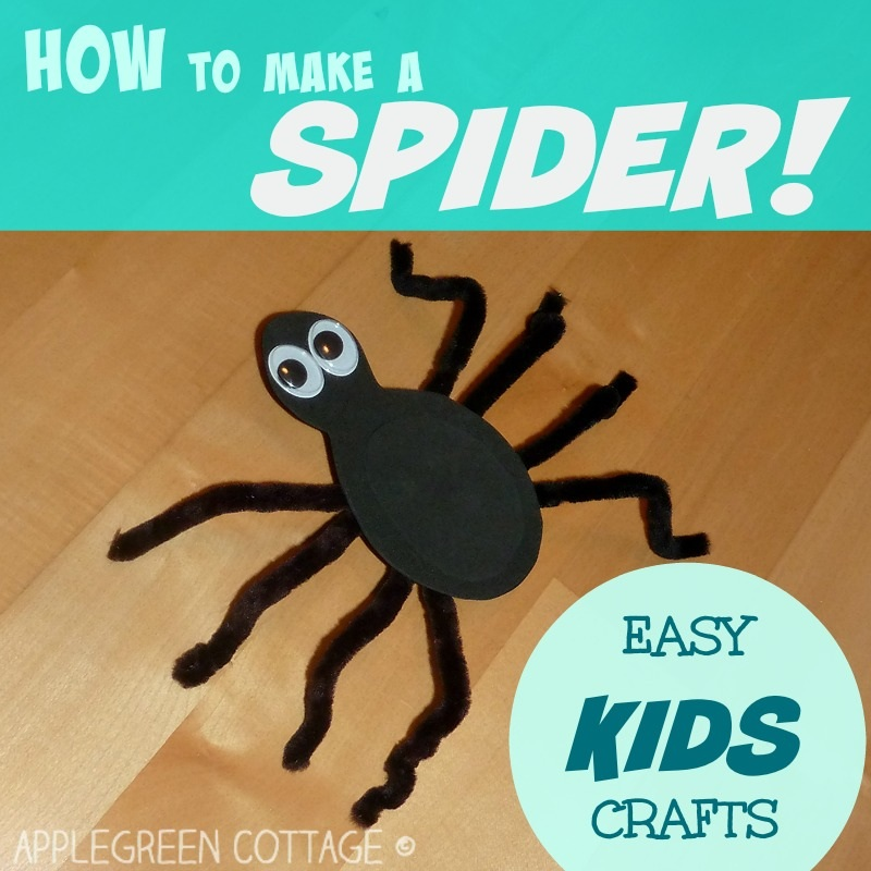 How to make a SPIDER kids crafts