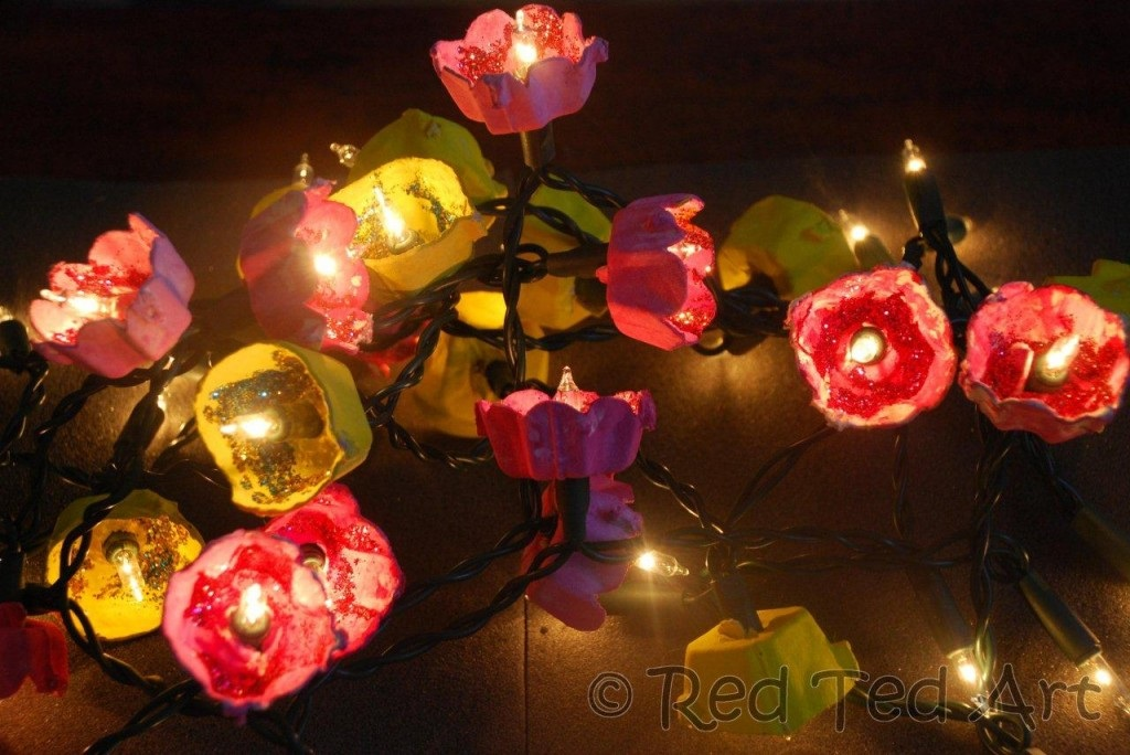 How to... Make Blossom Fairy Lights (from Egg Cartons)! Red Ted Art's Blog Red Ted Art's Blog