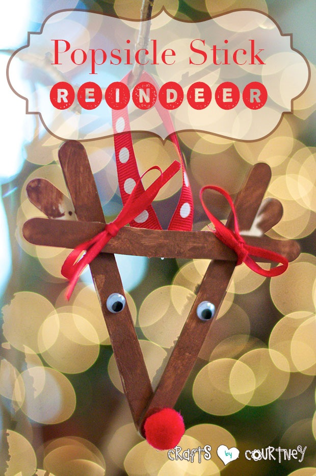 Make a Popsicle Stick Reindeer Ornament With Your Kids