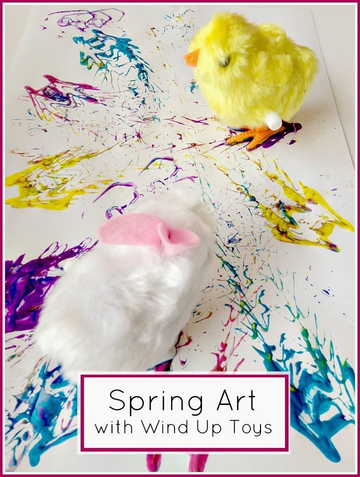 Tutus and Tea Parties Spring Art Activity Chick and Bunny Wind Up Toy Painting