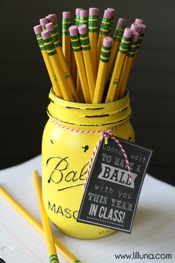 Ball Jar Teacher Gift