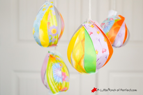 Paper Easter Eggs Spring Craft for Kids