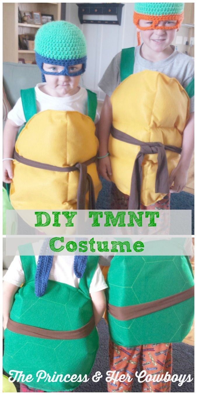 DIY Teenage Mutant Ninja Turtle Costume The Princess & Her Cowboys