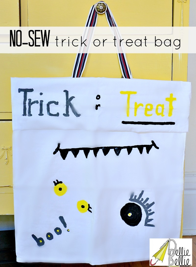 Trick or treat bag quick and easy no sew from NellieBellie