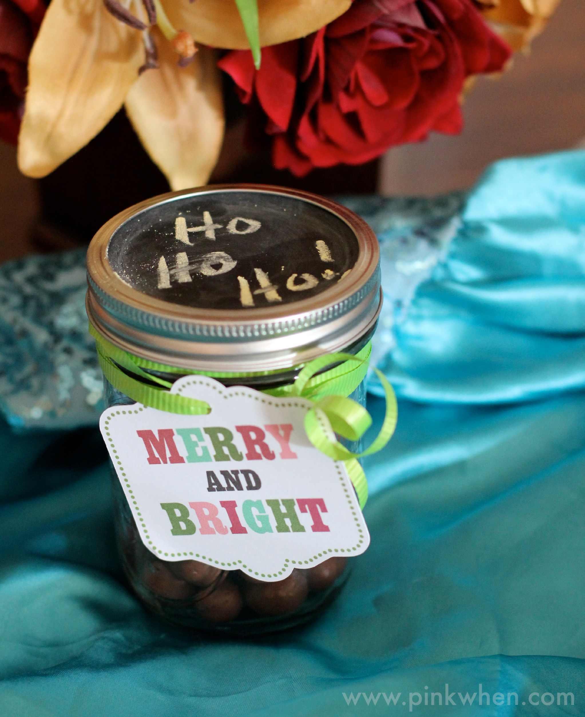 Chalkboard Mason Jar Gift