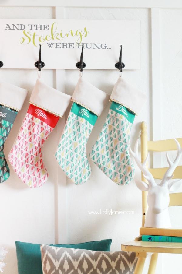 Diy holiday stocking board ? Lolly Jane