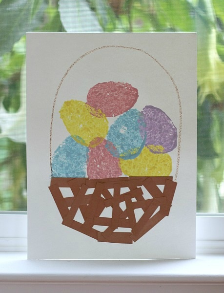 Easter Crafts for Kids Egg Sponge Painting for Kids