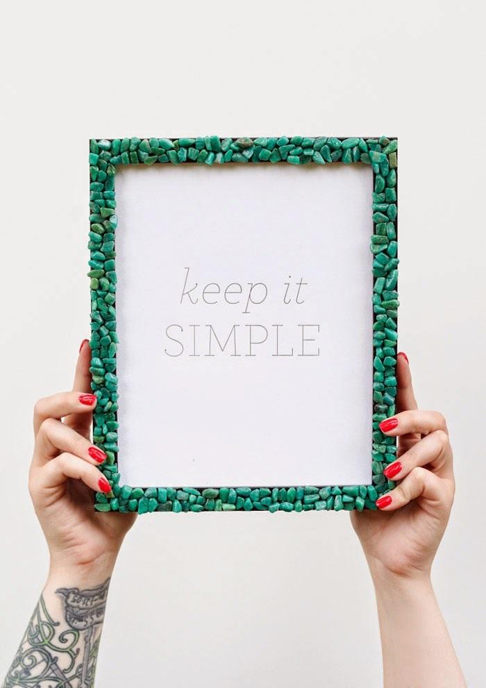 DIY Gemstone Picture Frame