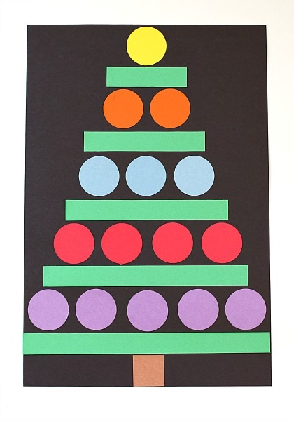 Christmas Crafts for Kids Paper Shape Christmas Tree