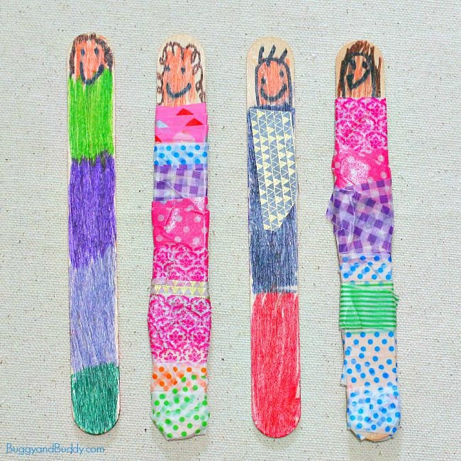 Popsicle Stick Puppet Craft for Kids