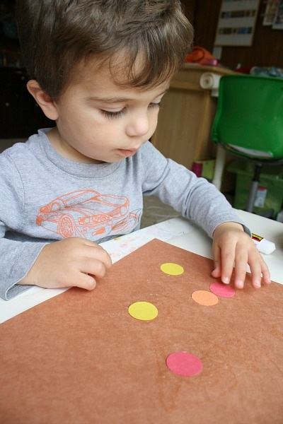 Invitation to Create Fall Art for Toddlers with Circles