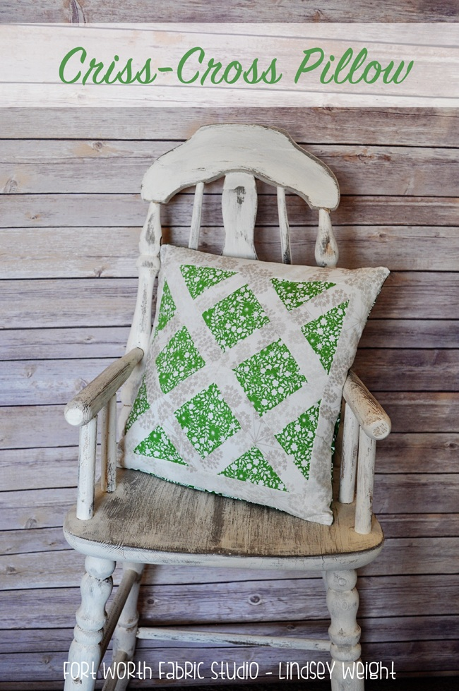 Mystery Project 2 {Criss Cross Pillow}