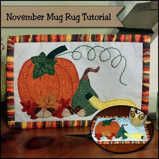 November Mug Rug Tutorial Autumn Harvest So Sew Easy