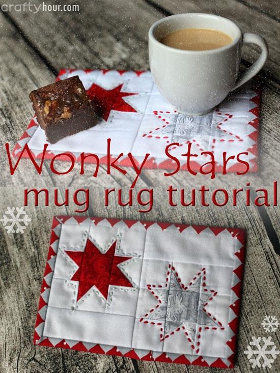 Wonky Stars Christmas Mug Rug So Sew Easy