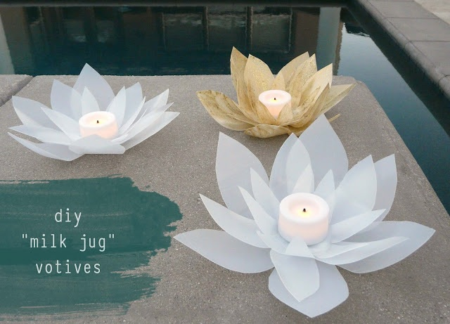 Make Milk Jug Votives