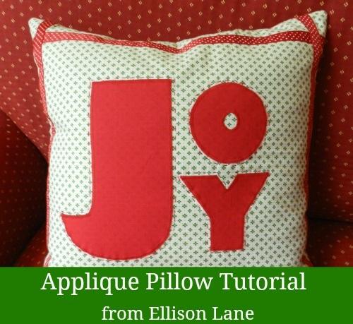 Joy Applique Christmas Pillow So Sew Easy