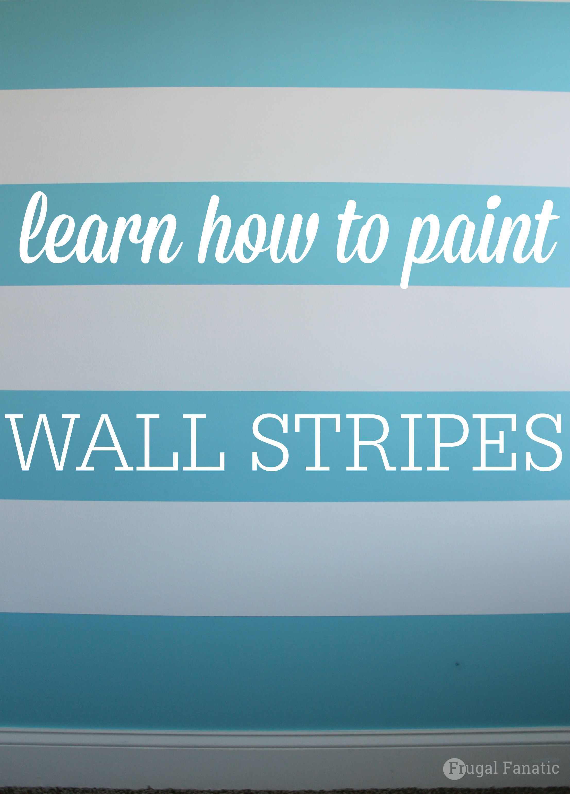 DIY Painting Stripes on Walls
