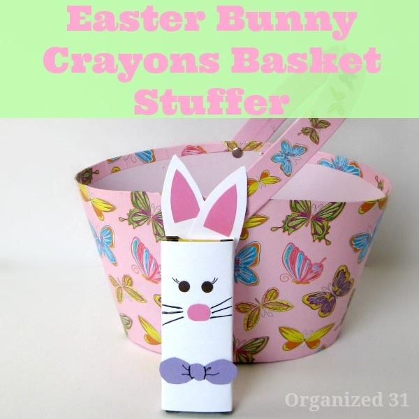 Easter Basket Stuffers Bunny Crayons