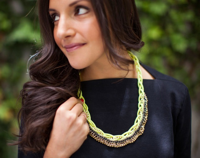 Rope, Meet Rhinestone A New Statement Necklace to Try