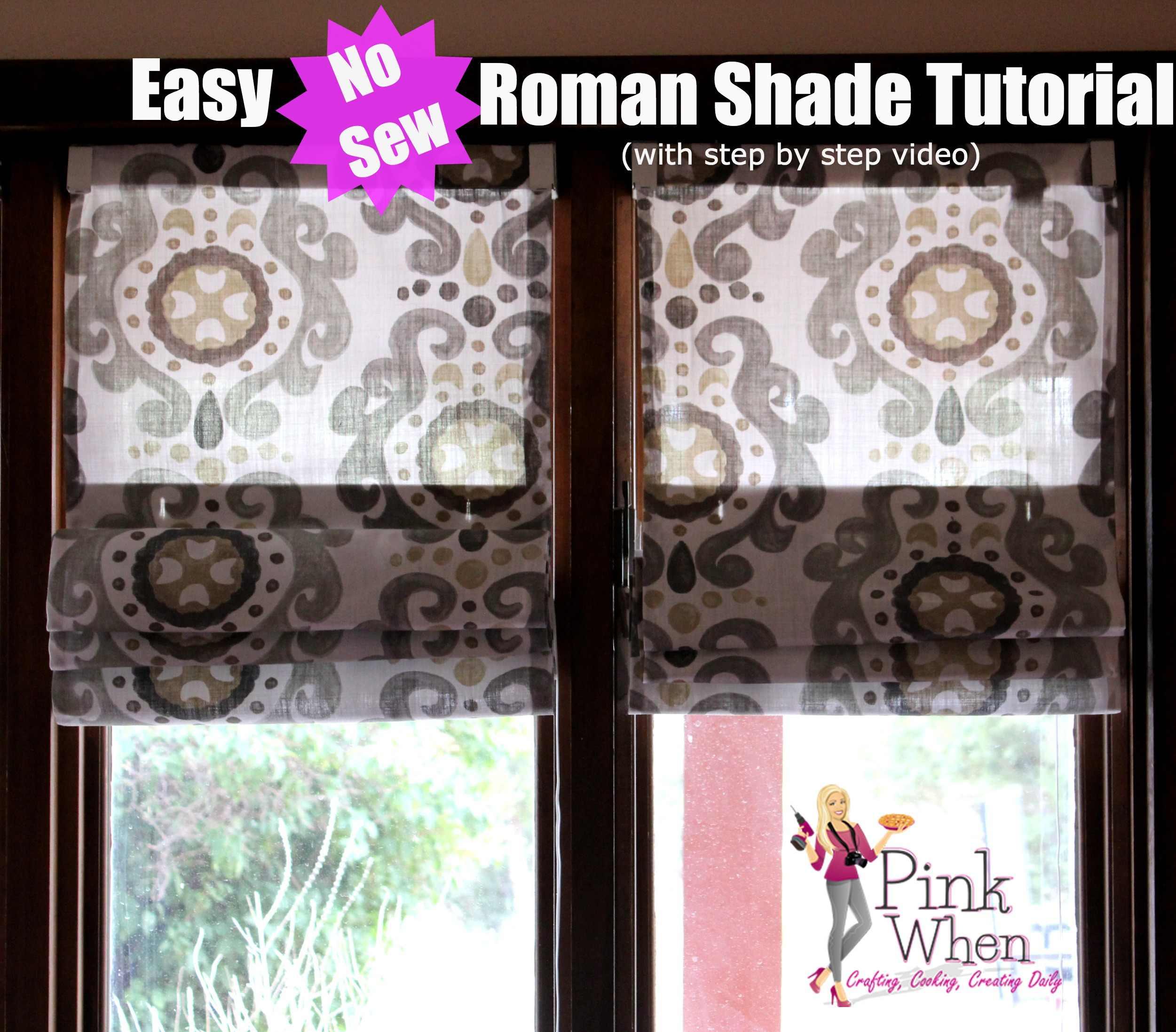 Simple No Sew Roman Shades
