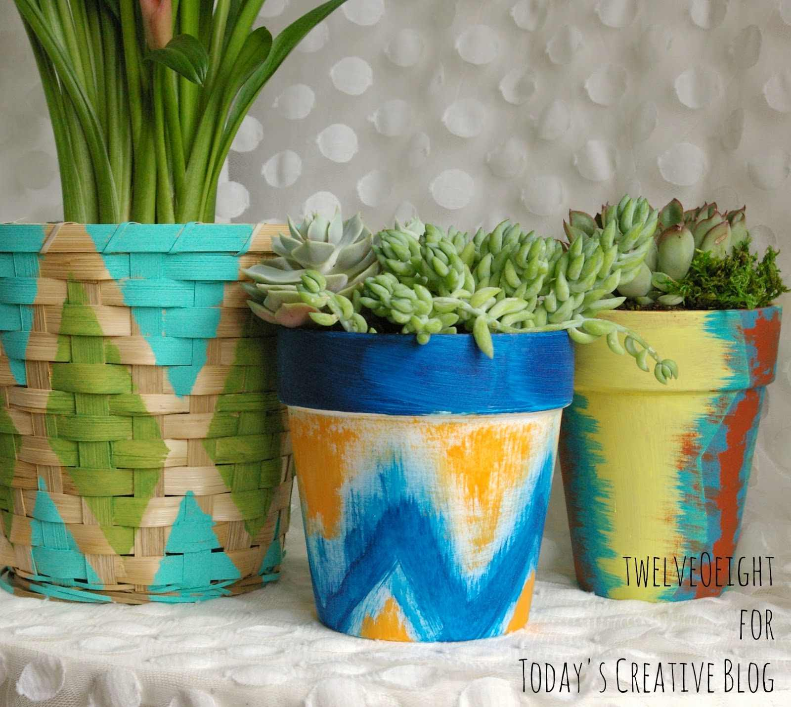 Painted Pots and Baskets