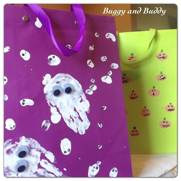 Fingerprint Halloween Treat Bags