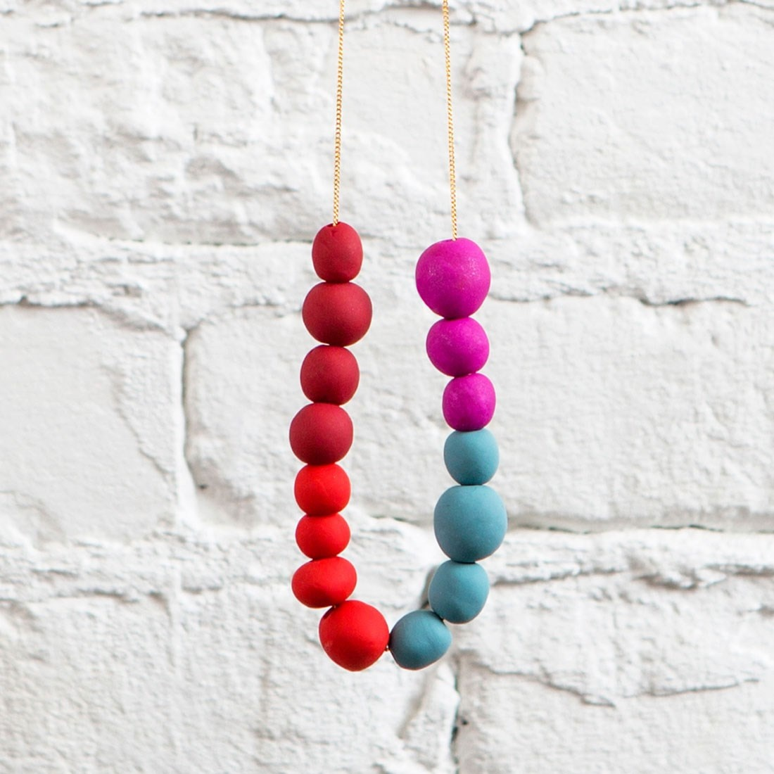 Nostalgia FTW Make a Clay Bead Statement Necklace