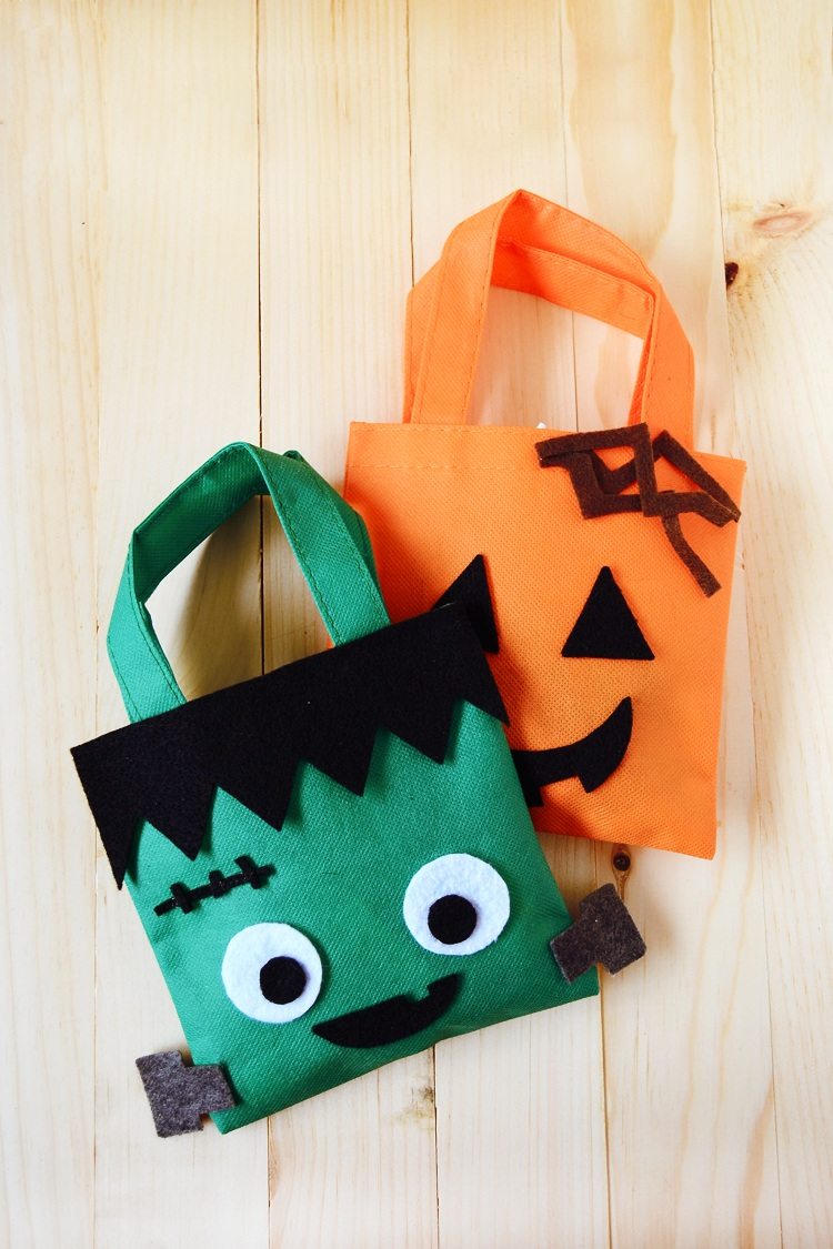 DIY Halloween Treat Bags Easy Felt Project