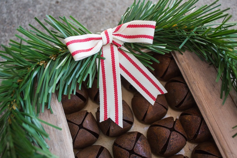 DIY Christmas Decor Rustic Bell Shadowbox