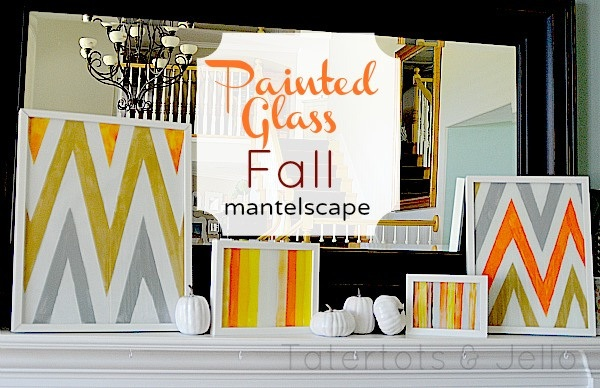 Painted Glass Fall Mantel