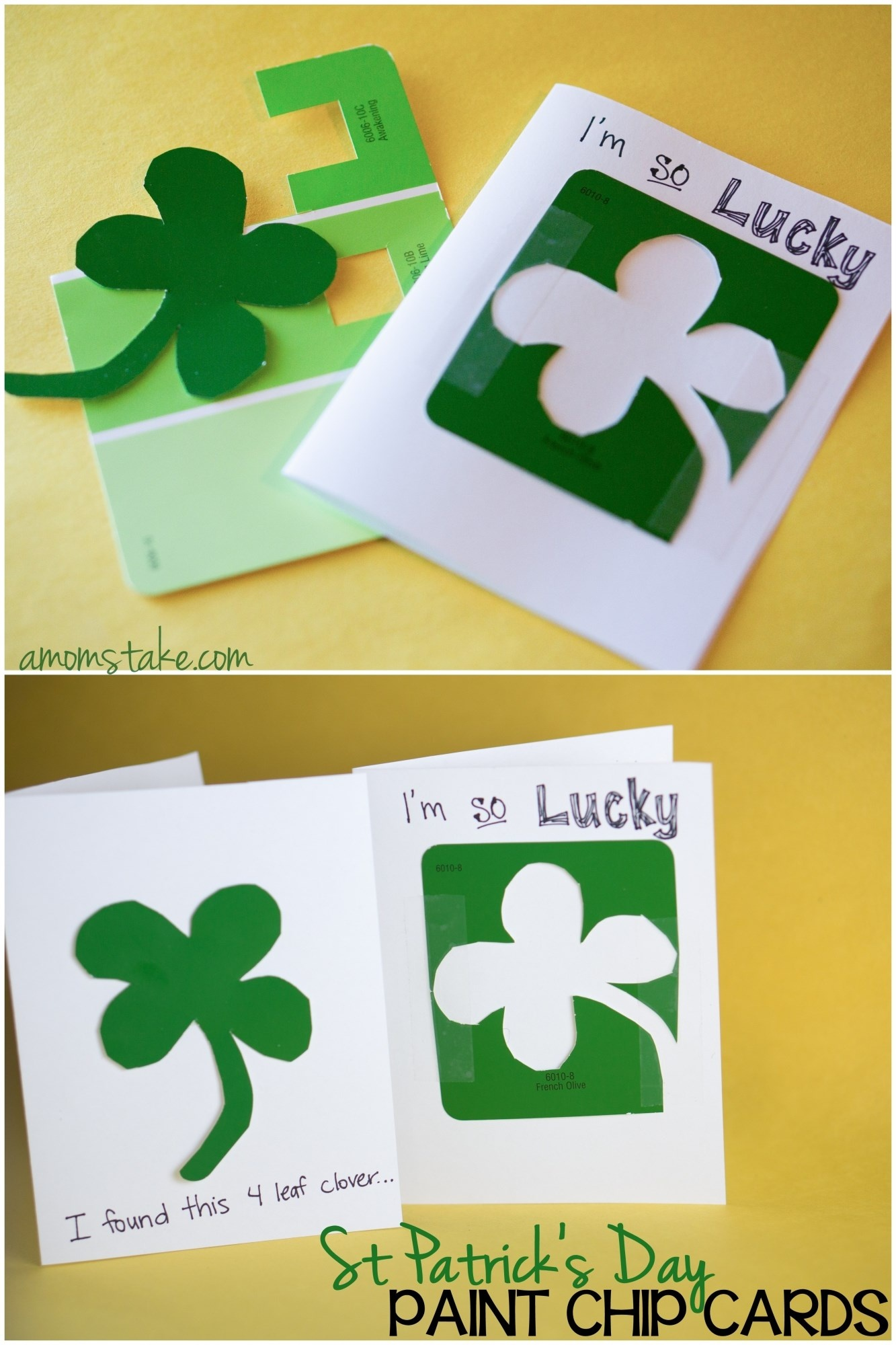 St. Patrick's Day Paint Chip Cards