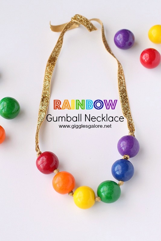 Rainbow Gumball Necklace