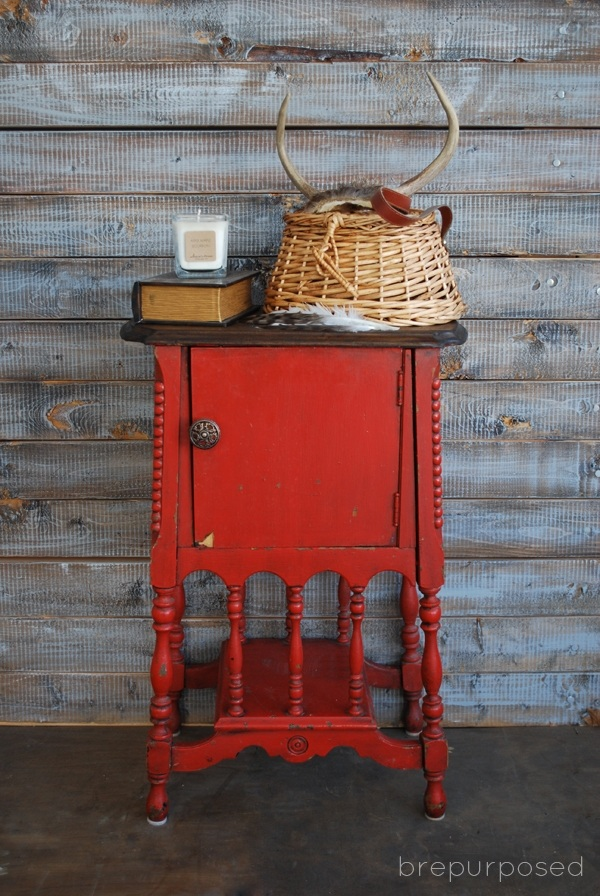 Antique Humidor Table Themed Furniture Makeover Day