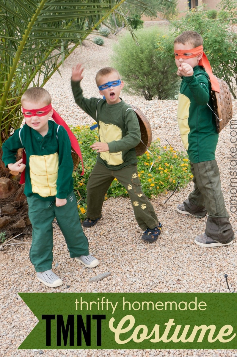 Thrifty Homemade TMNT Costume