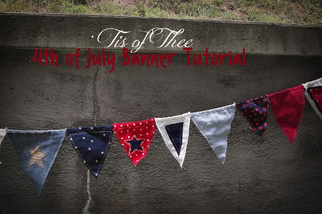 4th of July bunting a tutorial