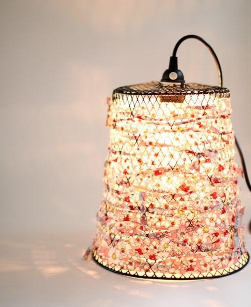DIY Wire Waste Basket Turned Pendant Light - CraftSmile