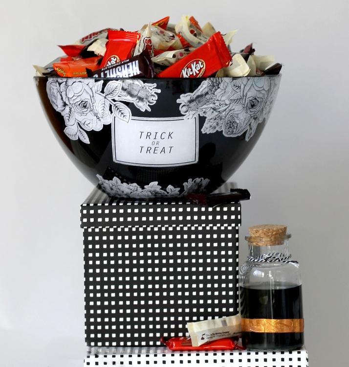 Halloween DIY Decoupage Candy Bowl
