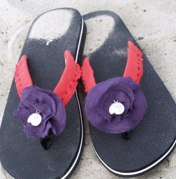 Summer Flower Flip Flops