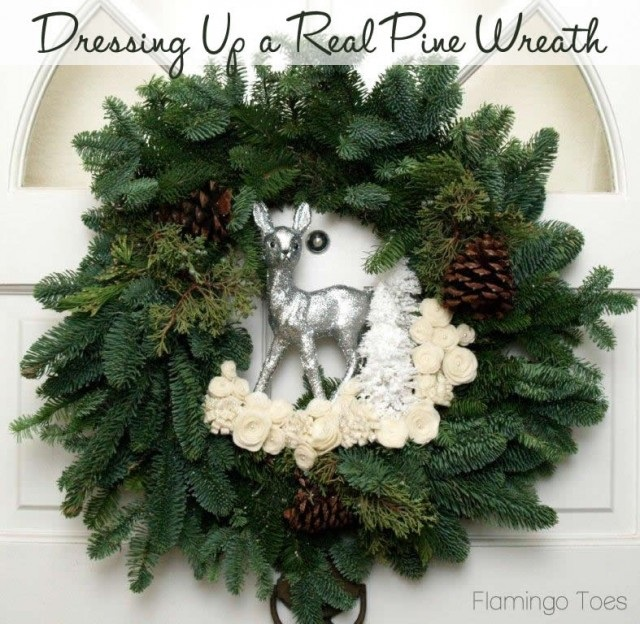 Dressing Up A Real Pine Wreath
