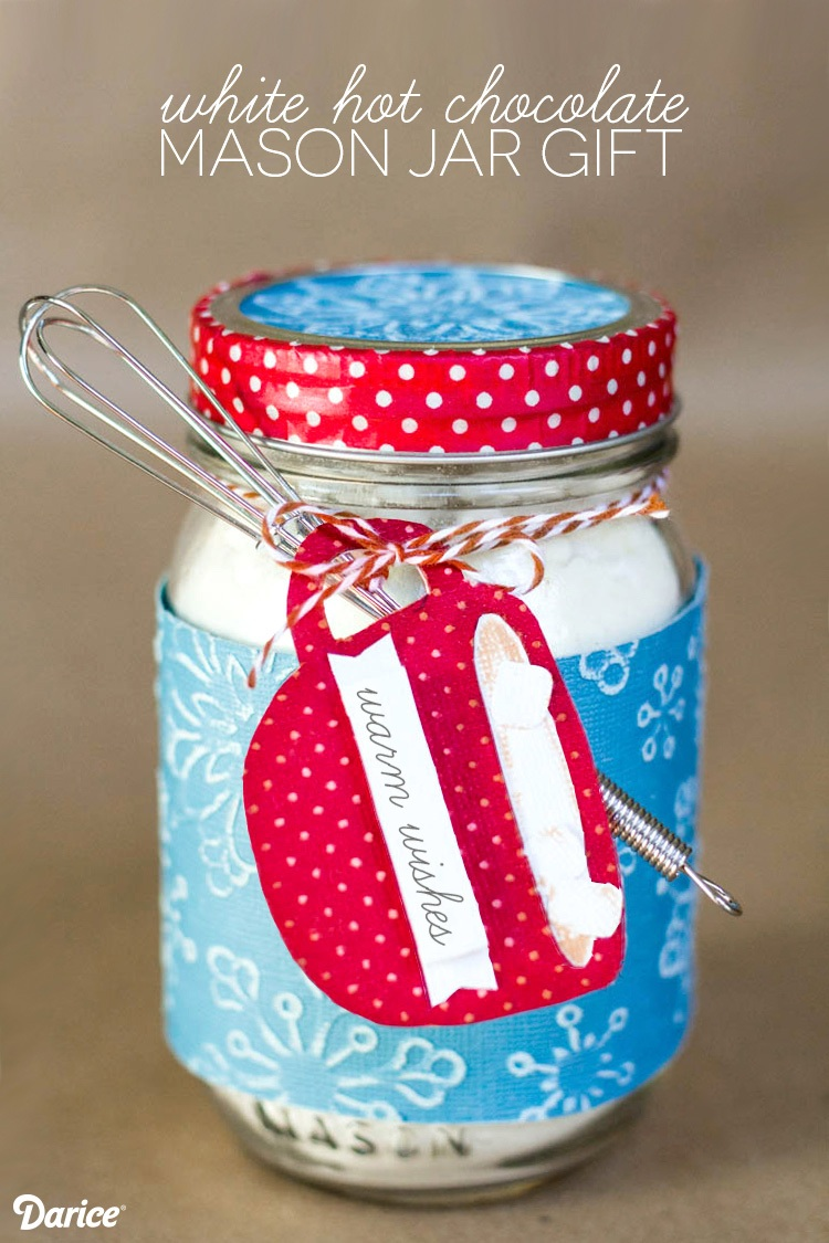 Mason Jar Christmas Gifts White Hot Chocolate